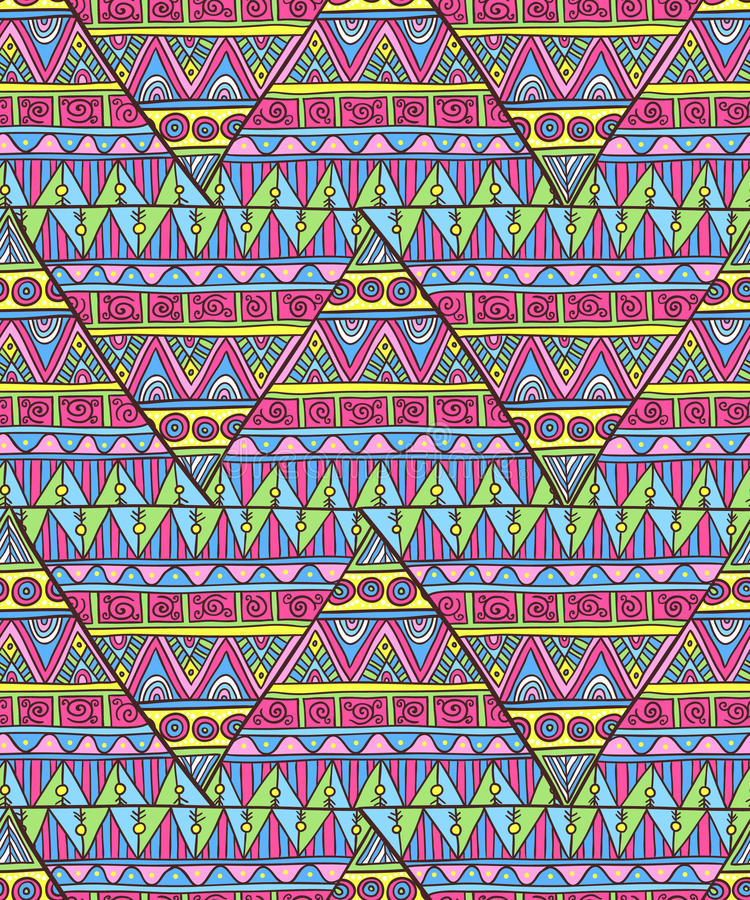 Download Ethnic Triangle Pattern Stock Illustration - Image: 50432568