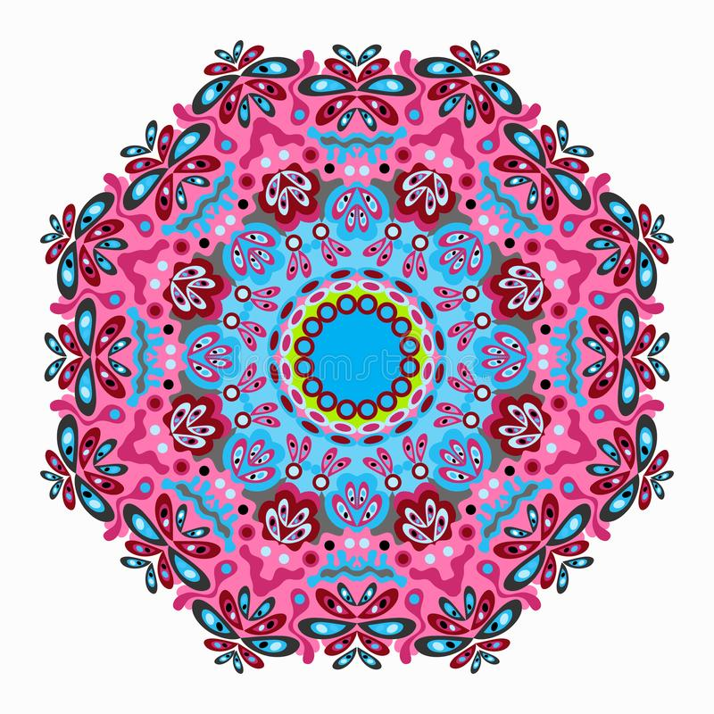 Ethnic tribal ornament on white background qualitative vector illustration for your design vector illustration