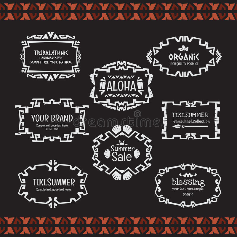 Doodle Tribal Ethnic Style Frame  Bohemian Invitation Card