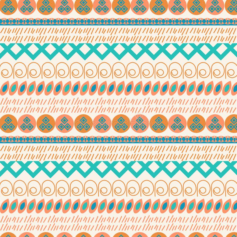 Ethnic vector abstract beautiful background. For design surface stock illustration