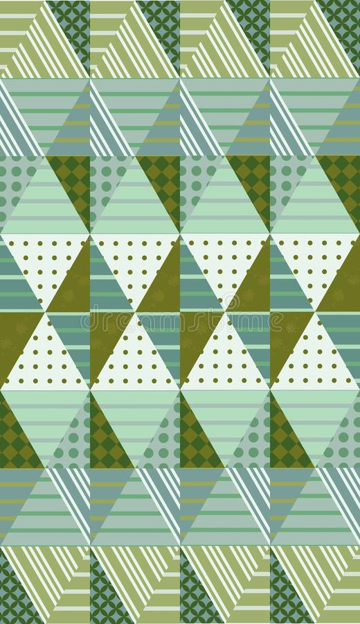 Ethnic vector background with rhombuses. Seamless patchwork pattern vector illustration