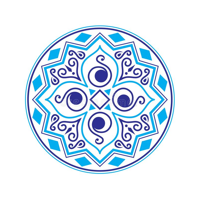 Ethnic vector logo. The ethnic circular logo. Simple logo. The brand name, emblem, logo. Mandala Logo boutique. Vintage. Islam, Arabic, Indian, ottoman royalty free illustration