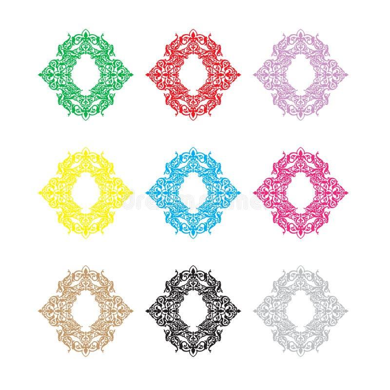 Ethnic vector logo. The ethnic circular logo. Simple logo. The brand name, emblem, logo. Mandala Logo boutique. Vintage. Islam, Arabic, Indian, ottoman vector illustration