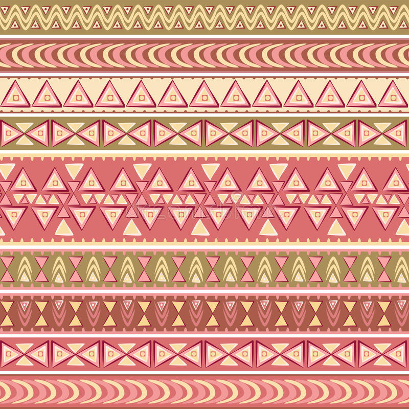 Ethnic vector seamless pattern. royalty free illustration