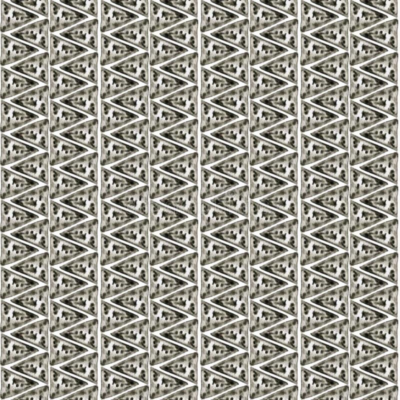 Ethnic watercolor pattern. Fashion aztec geometric background. Hand drawn monochrome pattern. Modern abstract wallpaper. vector illustration