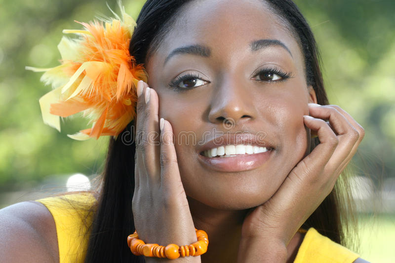 Ethnic Woman Face: African Beauty, Diversity Royalty Free Stock Image