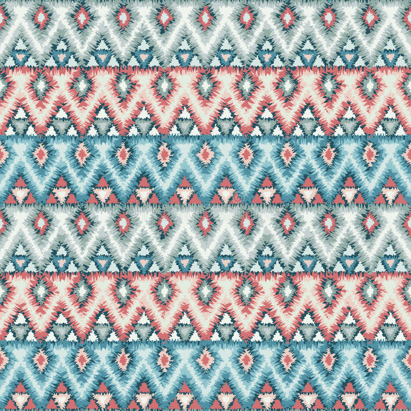 Ethnic zigzag tribal seamless pattern stock illustration