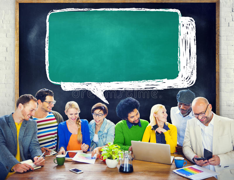 Ethnicity People Brainstorming Security Protection Concept.  royalty free stock photography