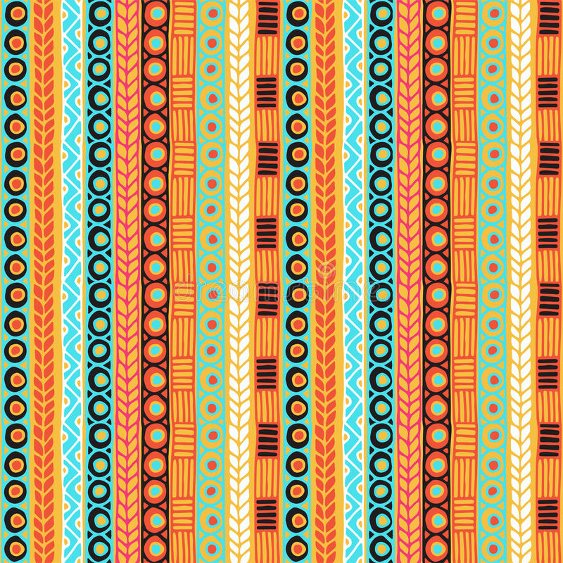 Ethnicity seamless pattern. Boho style. Ethnic wallpaper. Tribal art print. Old abstract borders background texture. Seamless tribal texture. Tribal seamless stock images
