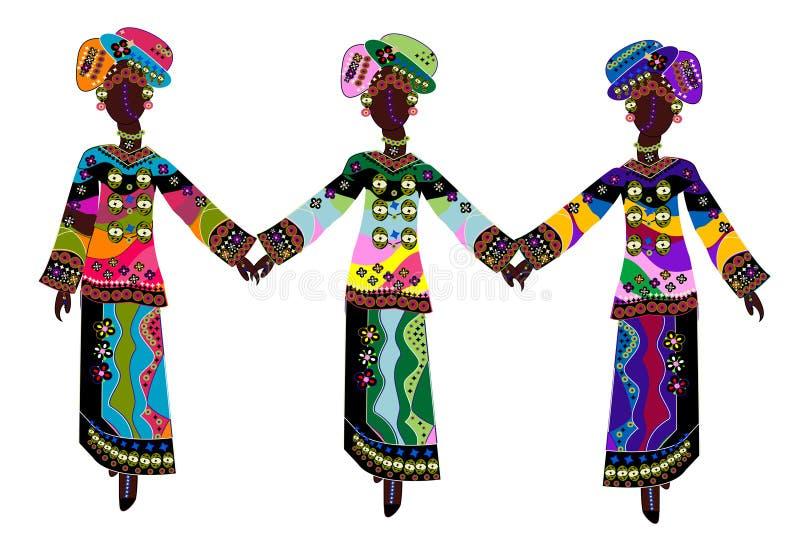 Ethnische Art und Weise stockbilder