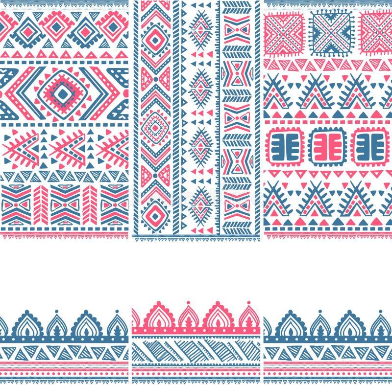Ethnische Fahnen der Stammes- Weinlese vektor abbildung