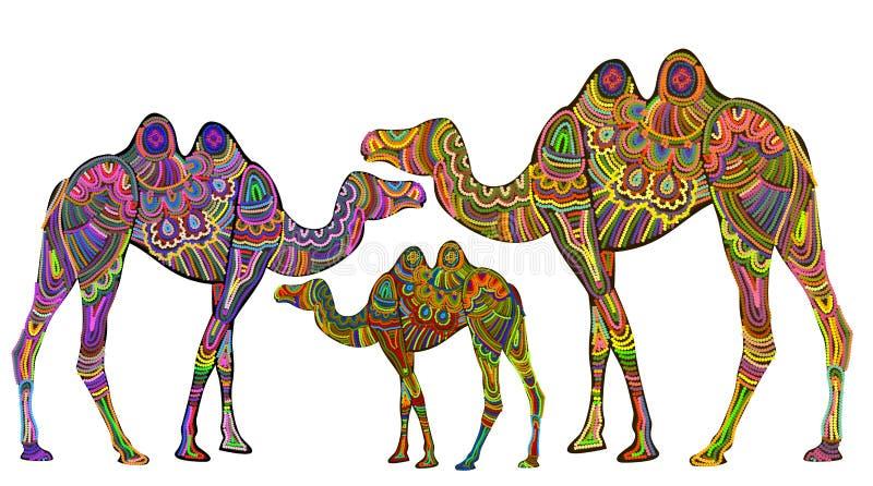 Ethnische Kamele lizenzfreie abbildung