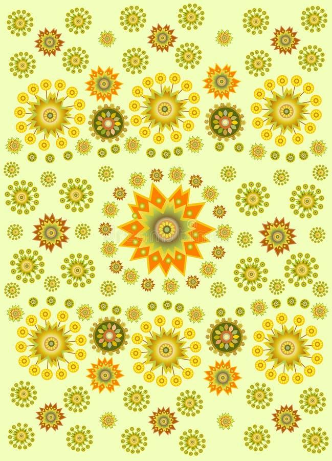Ethnischer Hintergrund der Blume vektor abbildung