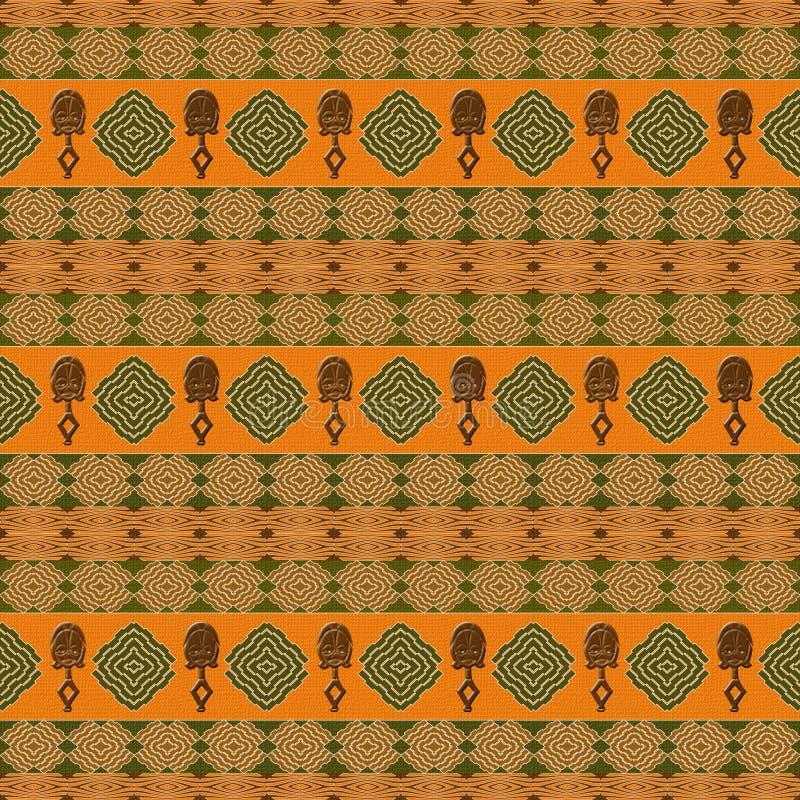 Ethnisches afrikanisches Stammes- siamless Muster lizenzfreie abbildung