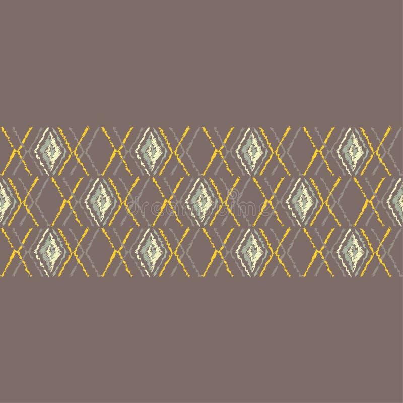 Download Ethnisches Boho Nahtloses Muster Gekritzelbeschaffenheit Kleine Verzierung Mit Quadraten Stock Abbildung - Illustration von fashion, aztekisch: 106801169