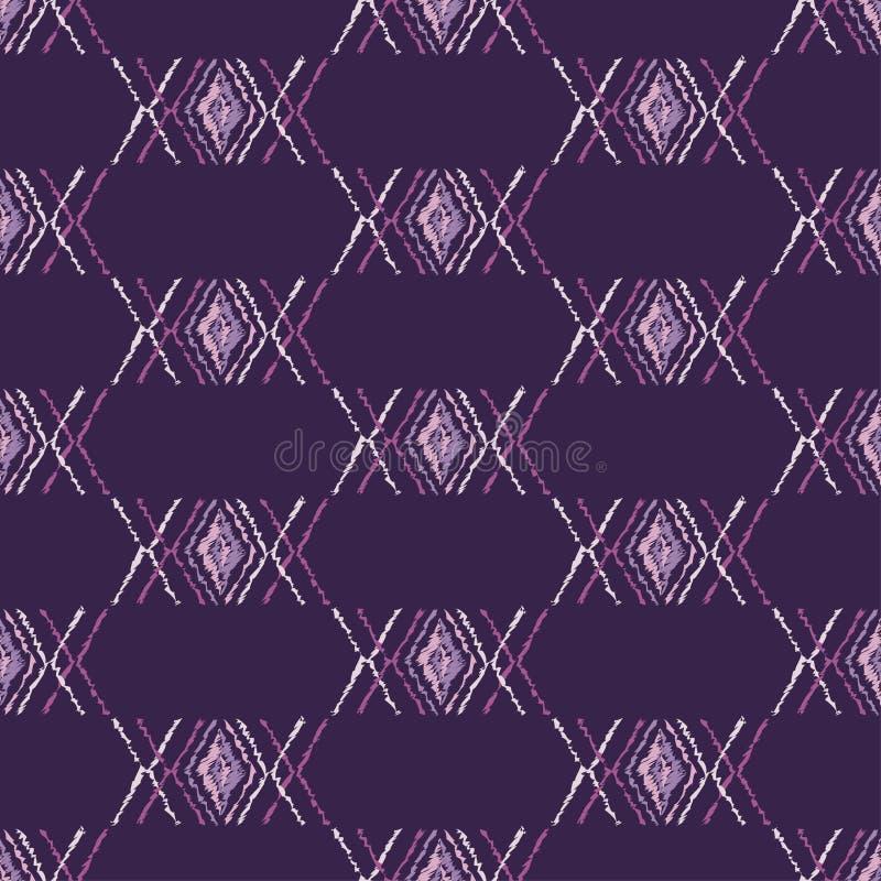 Download Ethnisches Boho Nahtloses Muster Gekritzelbeschaffenheit Kleine Verzierung Mit Quadraten Stock Abbildung - Illustration von segeltuch, auslegung: 106801272