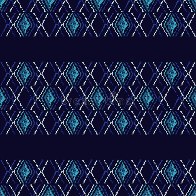 Download Ethnisches Boho Nahtloses Muster Gekritzelbeschaffenheit Kleine Verzierung Mit Quadraten Stock Abbildung - Illustration von auslegung, rand: 106801287