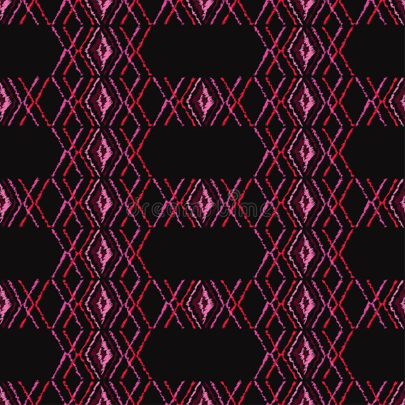 Download Ethnisches Boho Nahtloses Muster Gekritzelbeschaffenheit Kleine Verzierung Mit Quadraten Stock Abbildung - Illustration von bluse, geometrisch: 106801333
