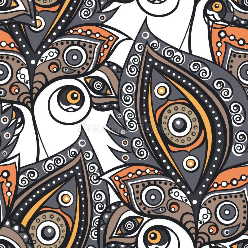 Ethnisches dekoratives Muster lizenzfreie abbildung