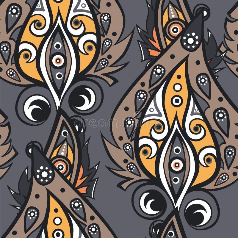 Ethnisches dekoratives Muster stock abbildung