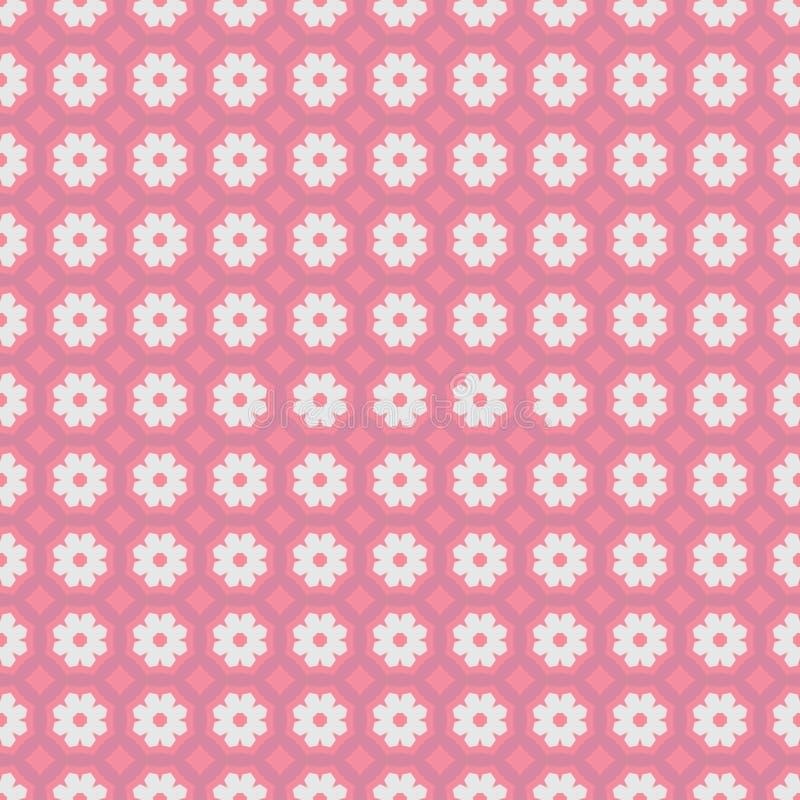 Ethnisches geometrisches Muster in der Wiederholung Gewebedruck Nahtloser Hintergrund, Mosaikverzierung, Retrostil lizenzfreie abbildung