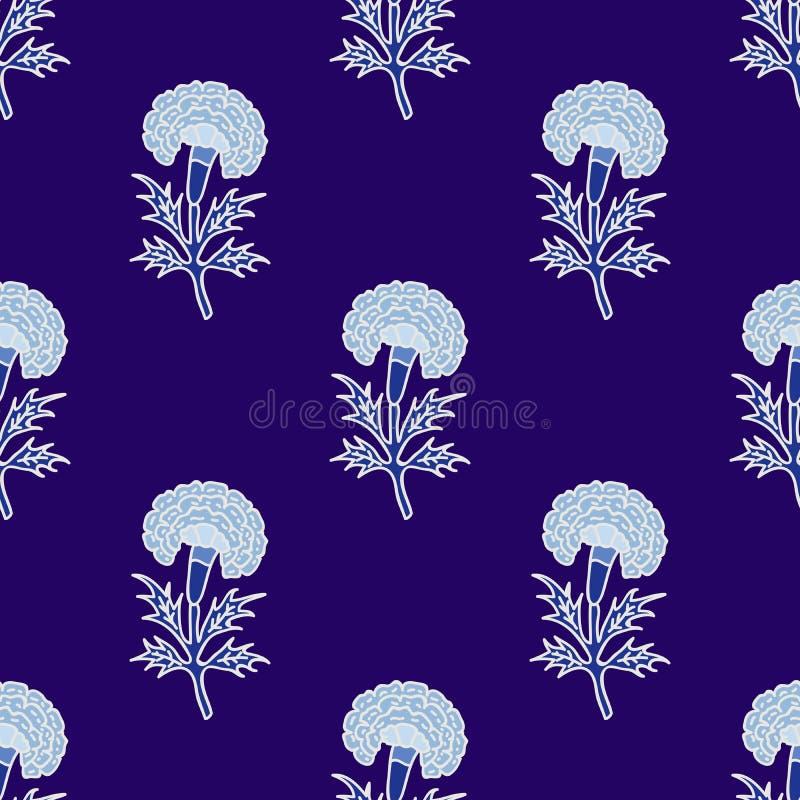Ethnisches Indien-Blumenmuster stock abbildung
