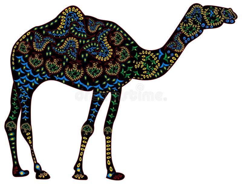 Ethnisches Kamel stock abbildung