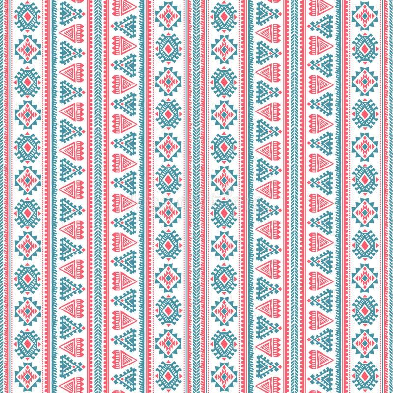 Ethnisches Muster der Stammes- Weinlese nahtlos stock abbildung