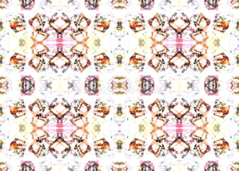 Ethnisches Muster Geometrisches nahtloses Muster des Aquarells lizenzfreie abbildung