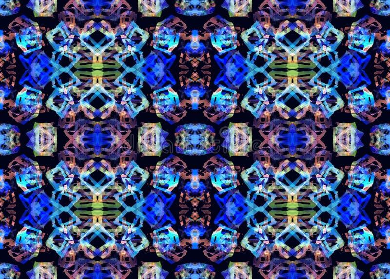 Ethnisches Muster Geometrisches nahtloses Muster des Aquarells vektor abbildung