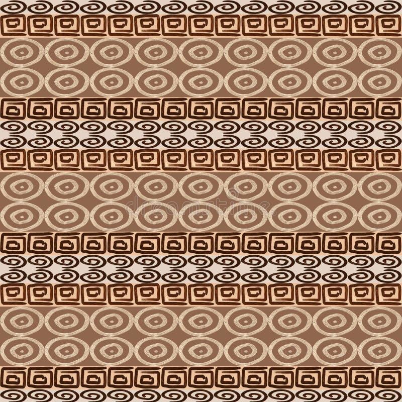 Ethnisches nahtloses afrikanisches Muster lizenzfreie abbildung