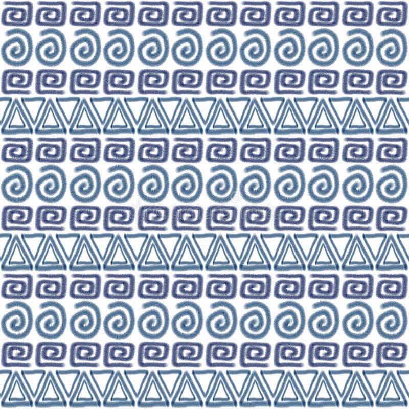 Ethnisches nahtloses afrikanisches Muster stock abbildung