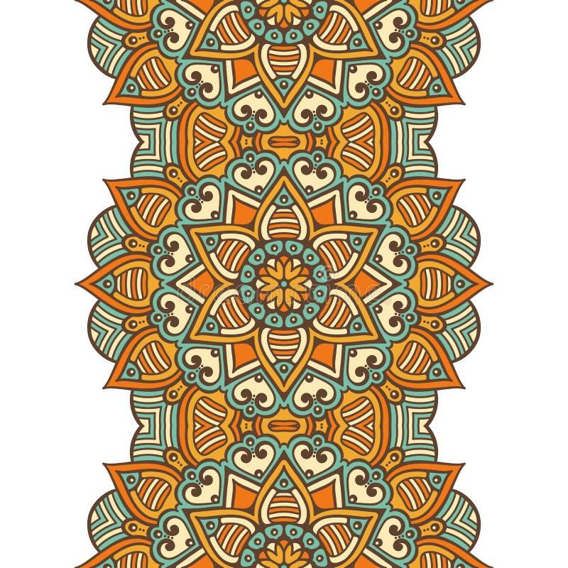 ethnisches nahtloses mit blumenmuster vektor abbildung illustration von gewebe henna 62438958. Black Bedroom Furniture Sets. Home Design Ideas