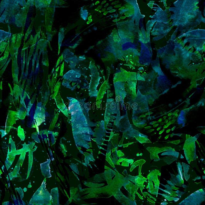 Ethnisches nahtloses Muster des Aquarells vektor abbildung