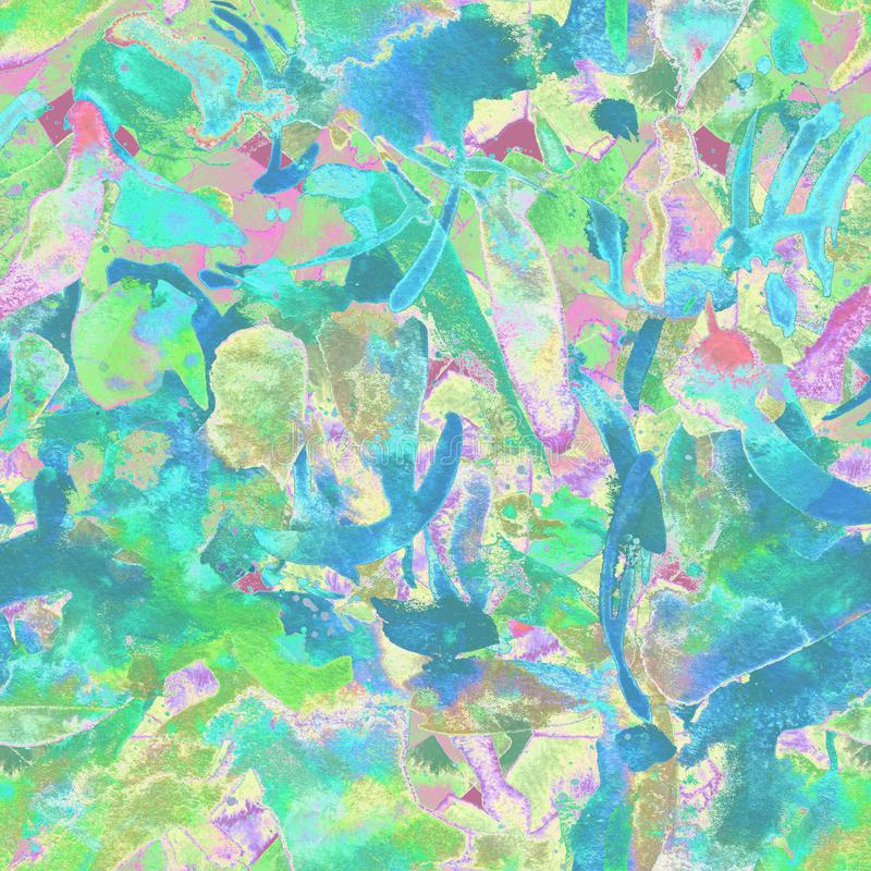 Ethnisches nahtloses Muster des Aquarells lizenzfreie abbildung