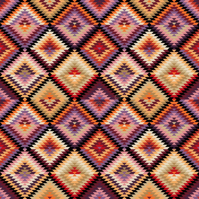 Ethnisches Stammes- nahtloses Muster vektor abbildung