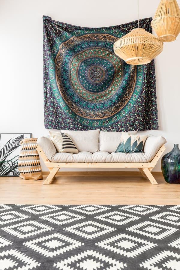 Ethnisches Wohnzimmer lizenzfreies stockfoto