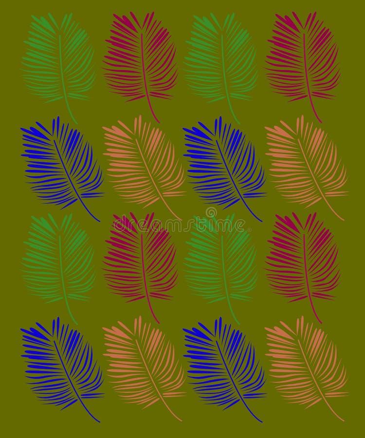 Ethno exótico das palmas do projeto ilustração royalty free