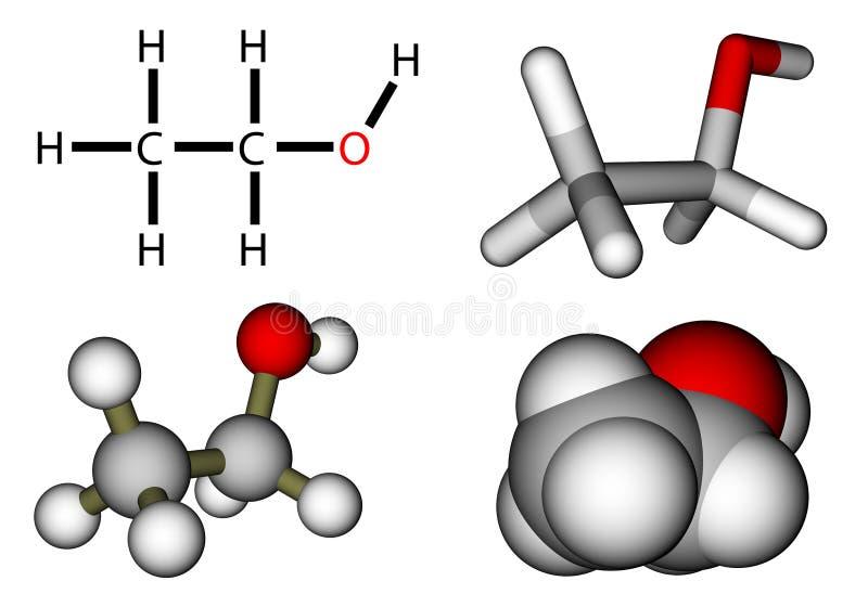 Ethylalkohol royaltyfri illustrationer