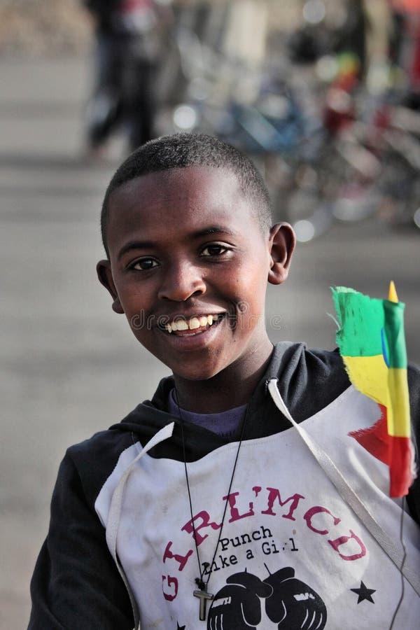 Etiópia: Menino etíope orgulhoso foto de stock