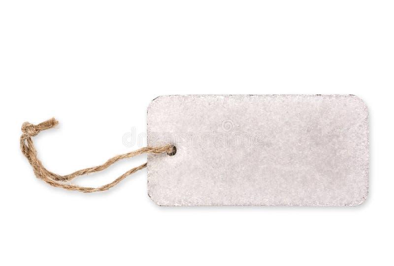 Etichetta bianca in bianco fotografia stock libera da diritti