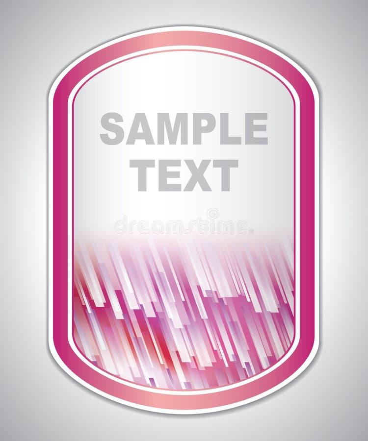 Etichetta bianca porpora astratta del laboratorio illustrazione vettoriale