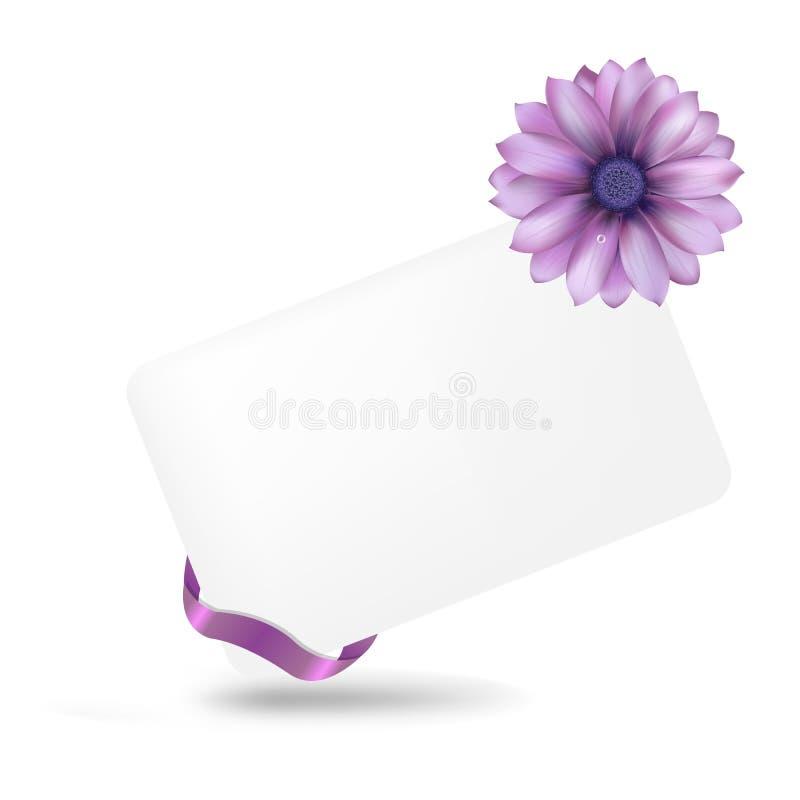 Etichetta in bianco del regalo con Gerber illustrazione vettoriale