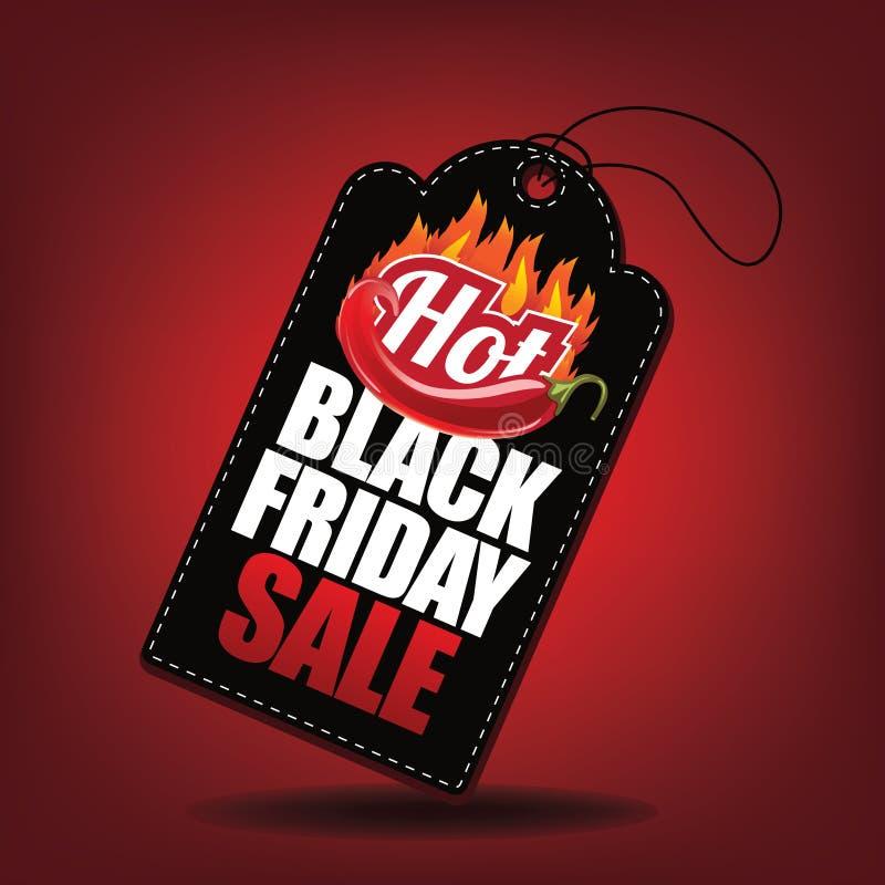 Etichetta calda di vendita di Black Friday royalty illustrazione gratis