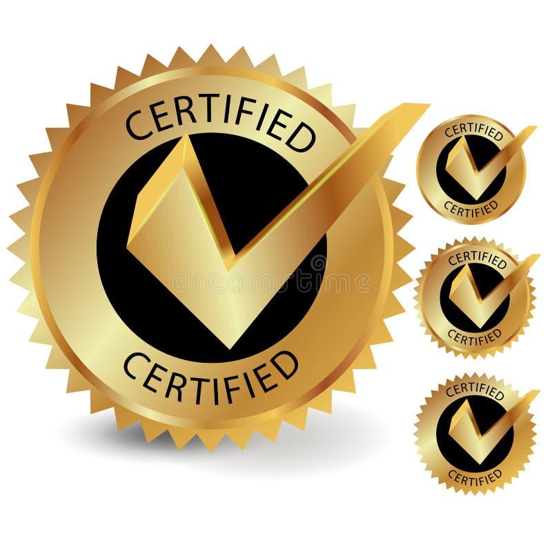 Etichetta certificata royalty illustrazione gratis
