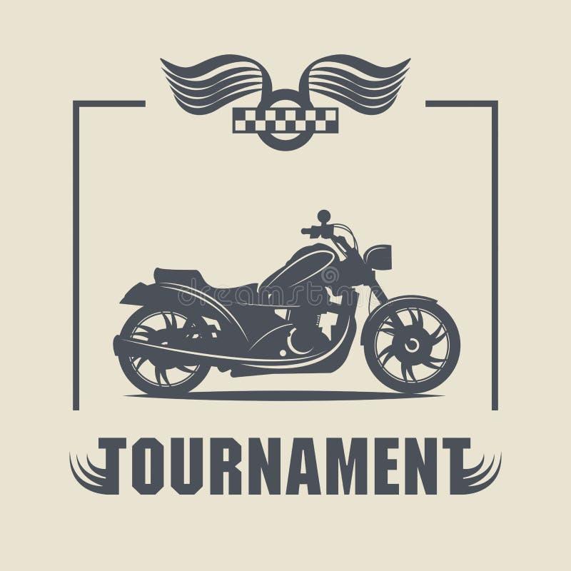 Etichetta d'annata del motociclo royalty illustrazione gratis