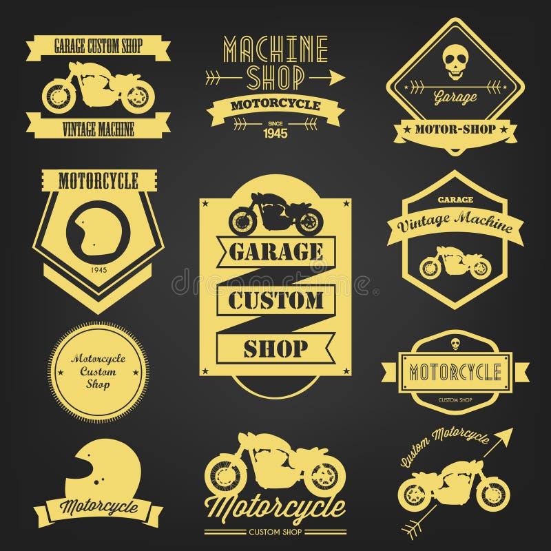 Etichetta d'annata del motociclo premio illustrazione di stock