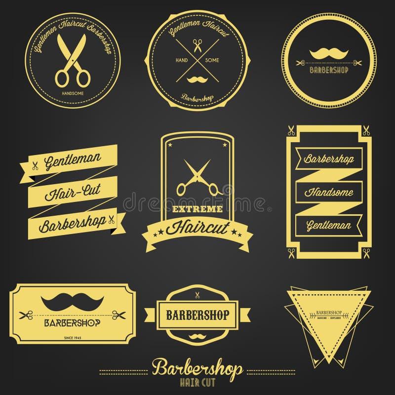 Etichetta d'annata del parrucchiere premio illustrazione di stock