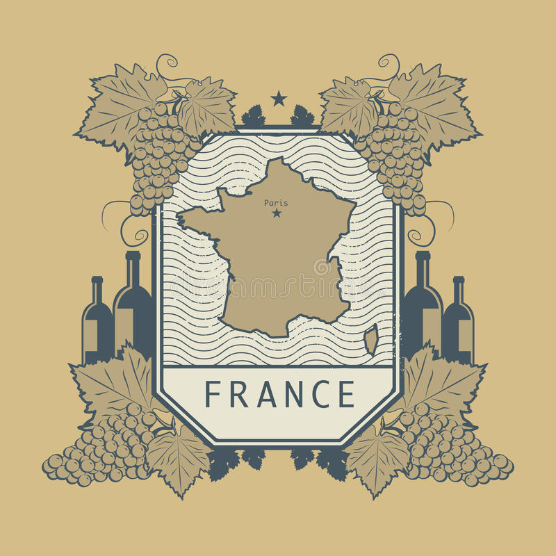 Etichetta d'annata del vino, vettore royalty illustrazione gratis