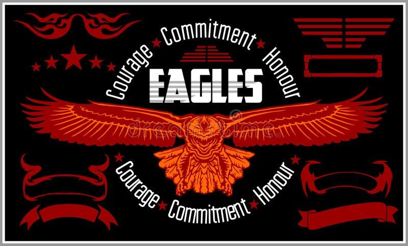 Etichetta d'annata Eagle - retro emblema royalty illustrazione gratis